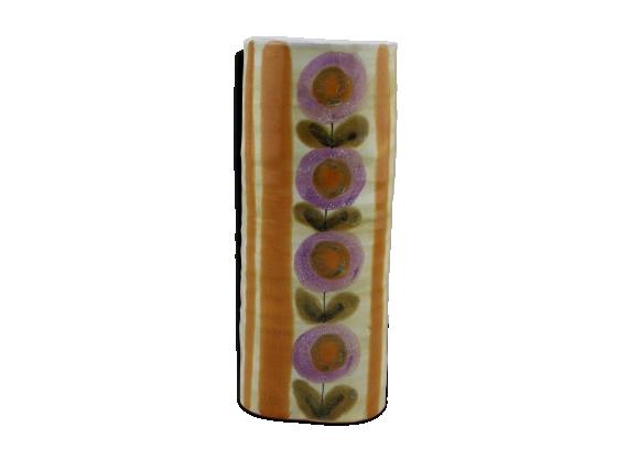 Vase en céramique Scandinave motif fleur
