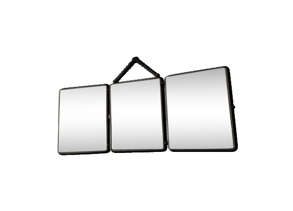 Stunning miroir triptyque contemporary for Miroir barbier