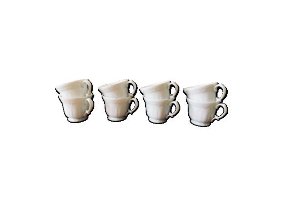 Lot de 6 tasses à café en porcelaine vintage