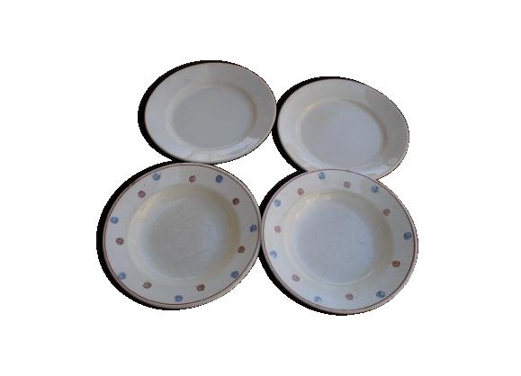 Assiettes ancienne porcelaine moulin des loups archies