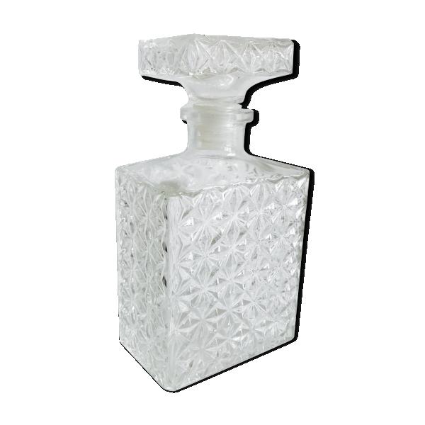 carafe whisky en verre moul verre et cristal transparent bon tat vintage. Black Bedroom Furniture Sets. Home Design Ideas