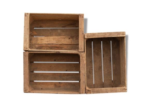 caisses pommes pour d coration vintage bois mat riau bois couleur bon tat vintage. Black Bedroom Furniture Sets. Home Design Ideas