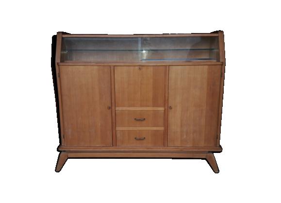 bahut vintage en acajou ann es 50 marque erlak bois mat riau marron bon tat vintage. Black Bedroom Furniture Sets. Home Design Ideas