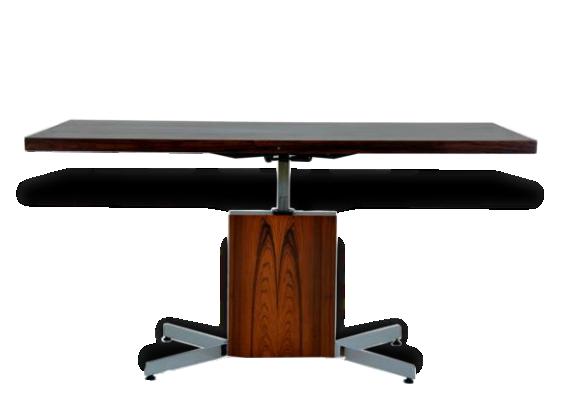 Table monte et baisse en palissandre bois mat riau - Table monte et baisse ...