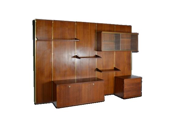Système étagères bibliothèque modulable Louis Paolozzi 1950s vintage