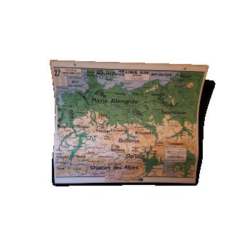 globe terrestre vintage d 39 occasion carte g ographique ancienne. Black Bedroom Furniture Sets. Home Design Ideas