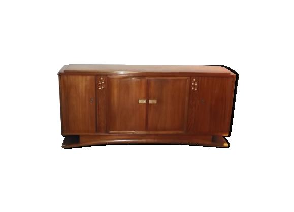 enfilade sideboard credenza jules leleu acajou art deco 1940 bois mat riau bois couleur. Black Bedroom Furniture Sets. Home Design Ideas