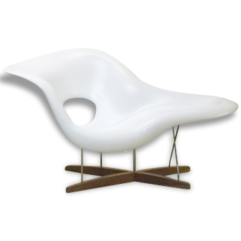 """Fauteuil """"La Chaise"""" Vitra blanche, Charles & Ray EAMES - 2006"""