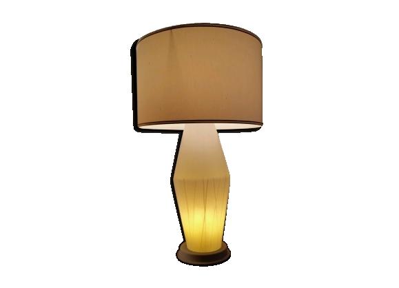 Lampe en verre avec motifs peints des années 50/60