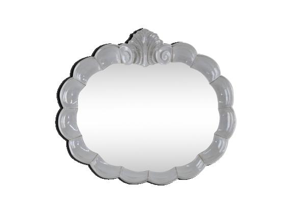 Miroir en porcelaine italien