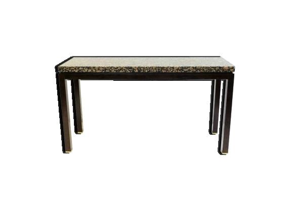 Console en granite et bois