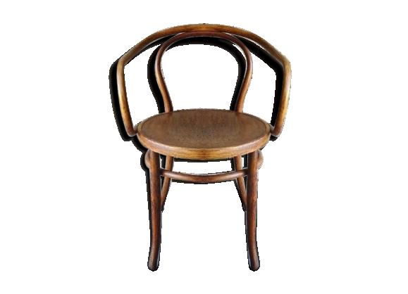 fauteuil le corbusier de kohn d but xix assise bois tat parfait bois mat riau bois. Black Bedroom Furniture Sets. Home Design Ideas