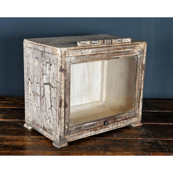 petit meuble vitrine bois mat riau dans son jus. Black Bedroom Furniture Sets. Home Design Ideas