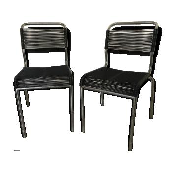 Chaise design industrielle scandinave vintage d 39 occasion - Chaise scoubidou vintage ...
