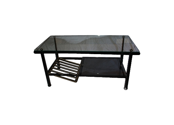 Table basse verre et metal
