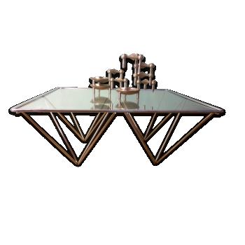 Table Basse Carrée De Paolo Piva
