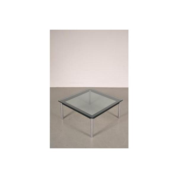 Table basse en m tal et en verre par le corbusier pour cassina italie 1980s - Tabouret bar transparent ...