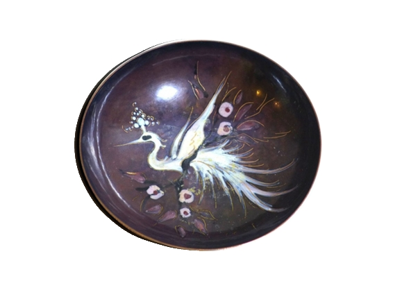 Bol avec motif d'oiseau vintage
