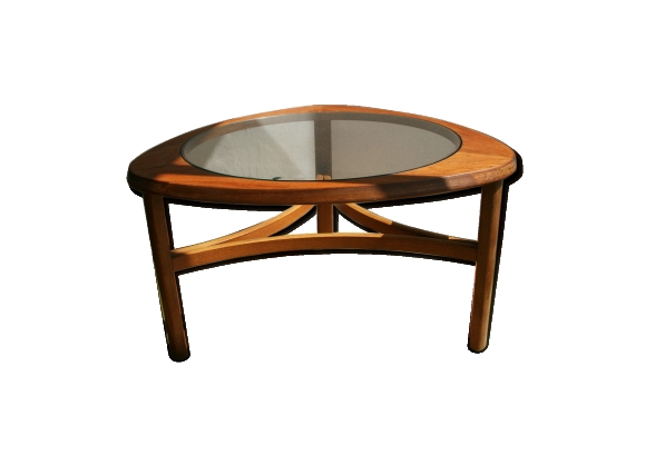 Table basse en bois et verre - 1960