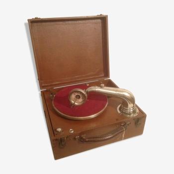 Phonographe gravophone portable