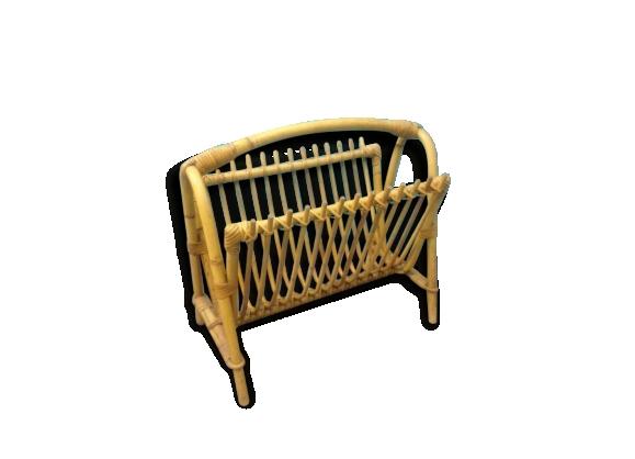 porte revues vintage en rotin le fait main. Black Bedroom Furniture Sets. Home Design Ideas