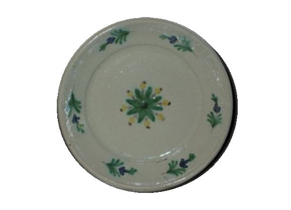 Assiette faience populaire XIX° fleurs