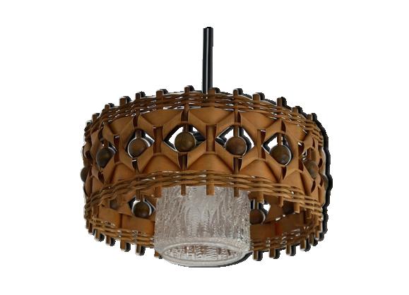 suspension en rotin rotin et osier bois couleur. Black Bedroom Furniture Sets. Home Design Ideas