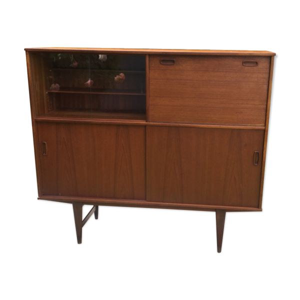 buffet scandinave vintage 1960 teck diteur o m f samcom teck bois couleur bon tat. Black Bedroom Furniture Sets. Home Design Ideas