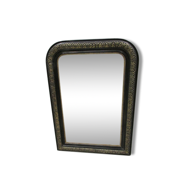 Petit miroir napol on iii en bois noirci bois mat riau for Petit miroir noir