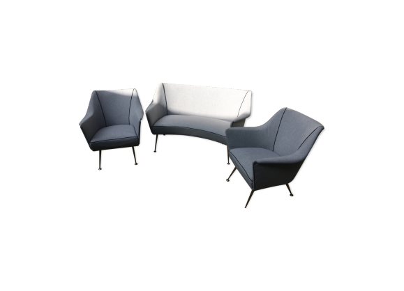 salon design italien tissu gris bon tat vintage 9928717451d6332389135b34c9eb5347. Black Bedroom Furniture Sets. Home Design Ideas