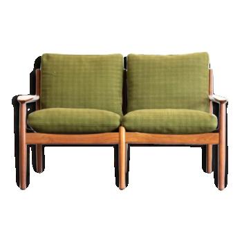 canap banquette en teck vintage d 39 occasion. Black Bedroom Furniture Sets. Home Design Ideas