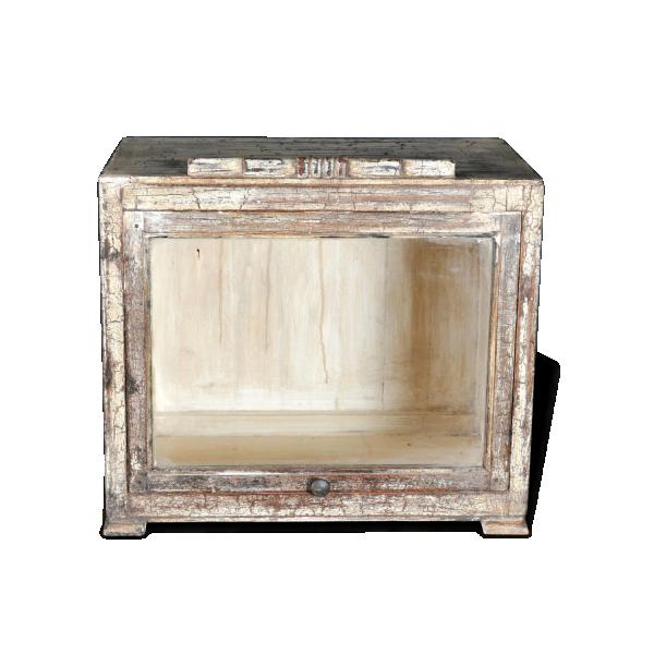 petit meuble vitrine bois mat riau dans son jus thnique 20083. Black Bedroom Furniture Sets. Home Design Ideas