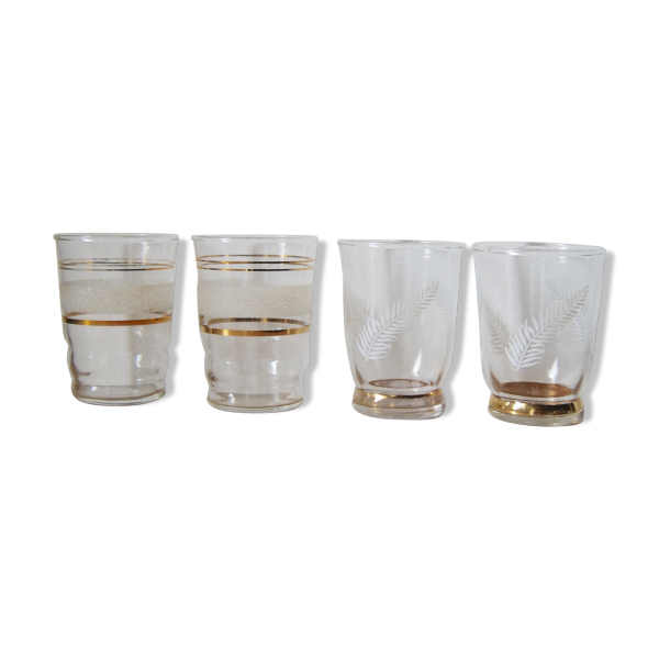 petits verres granit verre et cristal transparent bon tat vintage. Black Bedroom Furniture Sets. Home Design Ideas