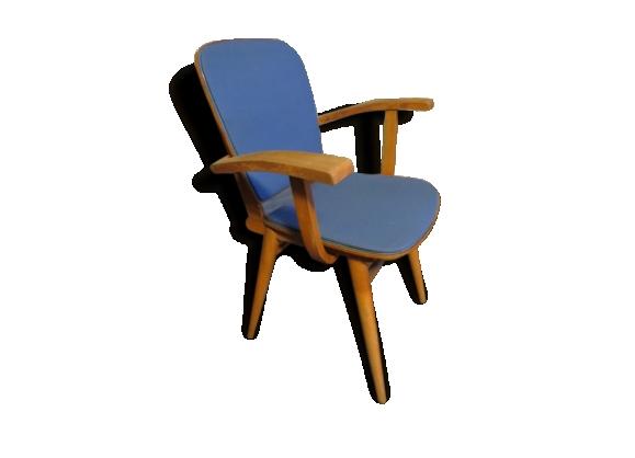 Joli bridge fauteuil bleu