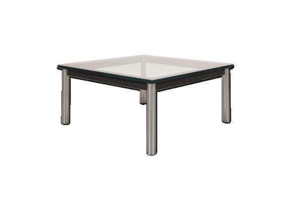 Table basse en m tal et en verre par le corbusier pour cassina italie 1980s verre et cristal - Table basse corbusier ...