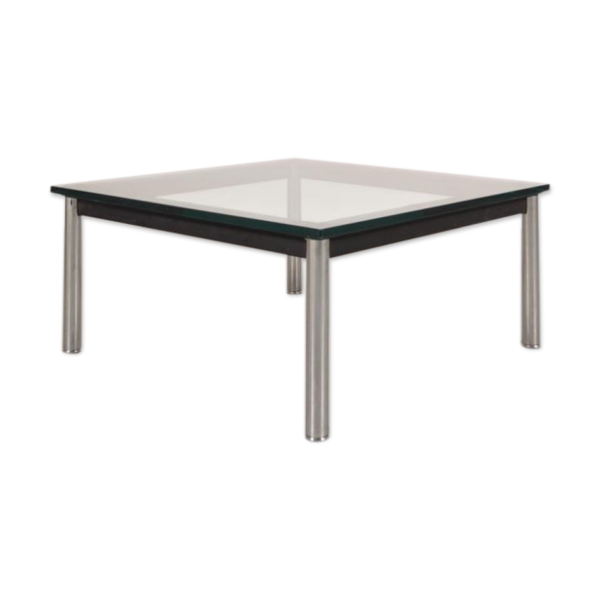 Table basse en acrylique transparent for Ventouse pour table basse en verre