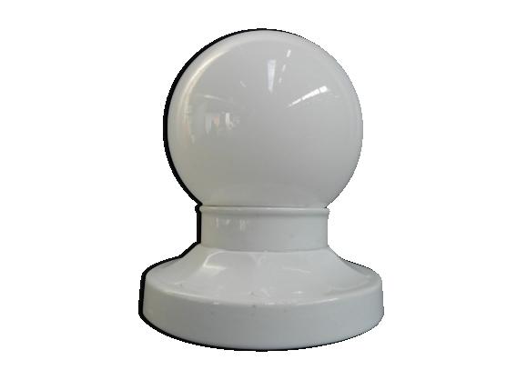 Plafonnier avec boule de verre en porcelaine