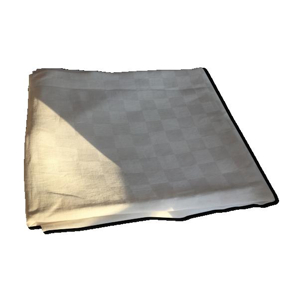 nappe damass e blanche tissu blanc bon tat vintage 98aff78df5243580a71640cb3feab378. Black Bedroom Furniture Sets. Home Design Ideas