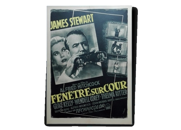 affiche cin ma vintage originale 1954 fen tre sur cour alfred hitchcock entoil e linen backed. Black Bedroom Furniture Sets. Home Design Ideas
