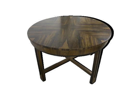 Table de salle à manger extensible circulaire art déco 1930