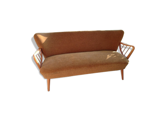 Canap sofa cocktail vintage ann es 50 60 d j restaur for Canape style annee 50