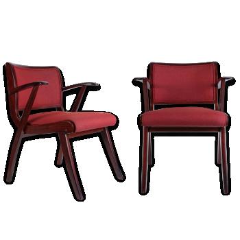 Fauteuil chauffeuse de couleur rouge vintage d 39 occasion - Fauteuil stockholm occasion ...