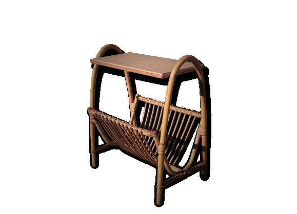 porte revue vintage en rotin le fait main. Black Bedroom Furniture Sets. Home Design Ideas