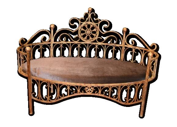 banc en fer forg patin le fait main. Black Bedroom Furniture Sets. Home Design Ideas