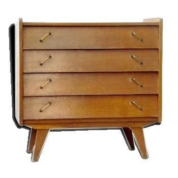 commode vintage pied compas. Black Bedroom Furniture Sets. Home Design Ideas