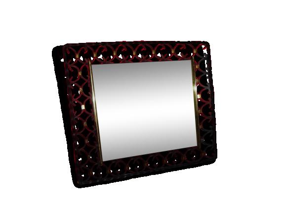 Miroir fer forg 1970 fer noir bon tat vintage for Miroir en fer forge