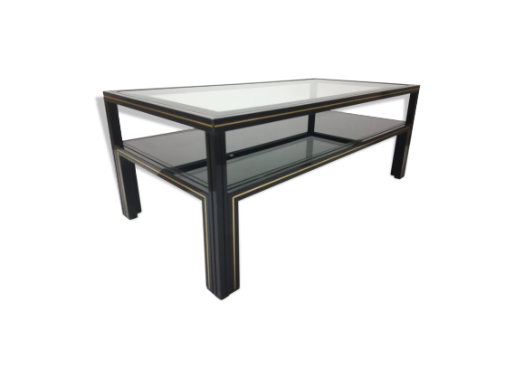 table basse p vandel ann es 70 m tal noir dans son jus design. Black Bedroom Furniture Sets. Home Design Ideas