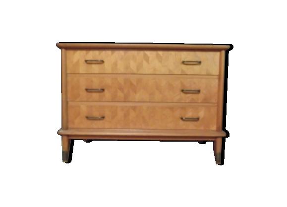 commode vintage en merisier bois mat riau bois couleur dans son jus vintage. Black Bedroom Furniture Sets. Home Design Ideas