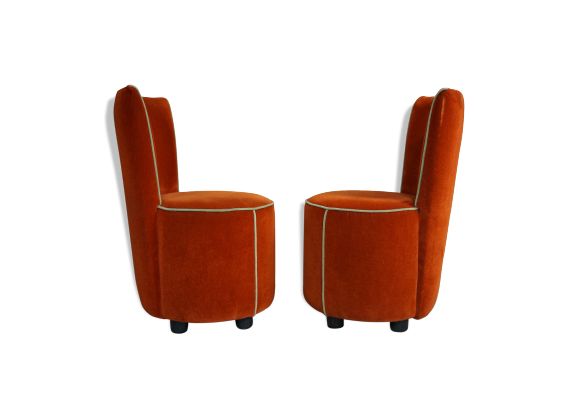 lot de 2 fauteuils crapaud tissu orange bon tat vintage 7e9443cfa7443971b43507367df50a6e. Black Bedroom Furniture Sets. Home Design Ideas