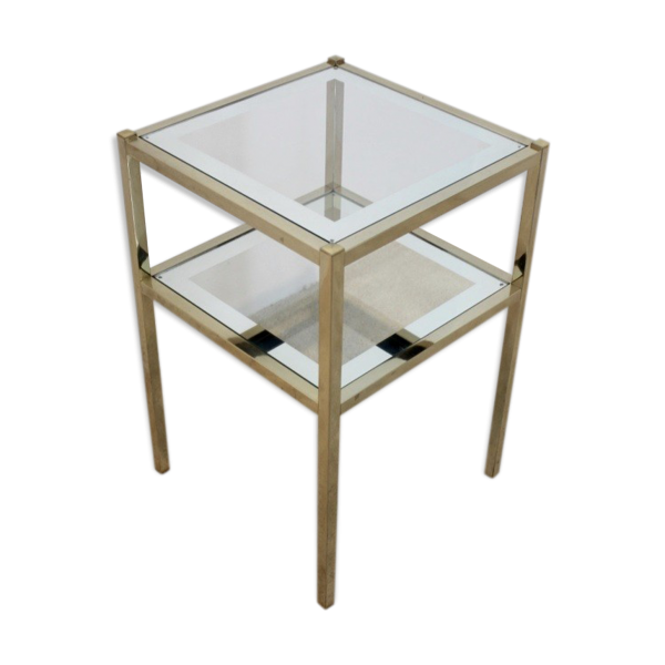Table d 39 appoint m tal transparent bon tat art - Tabouret bar transparent ...